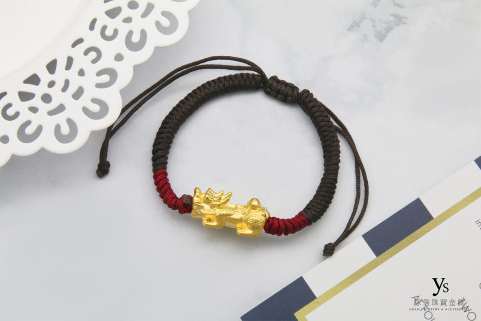 招財貔貅金飾-黃金貔貅手繩