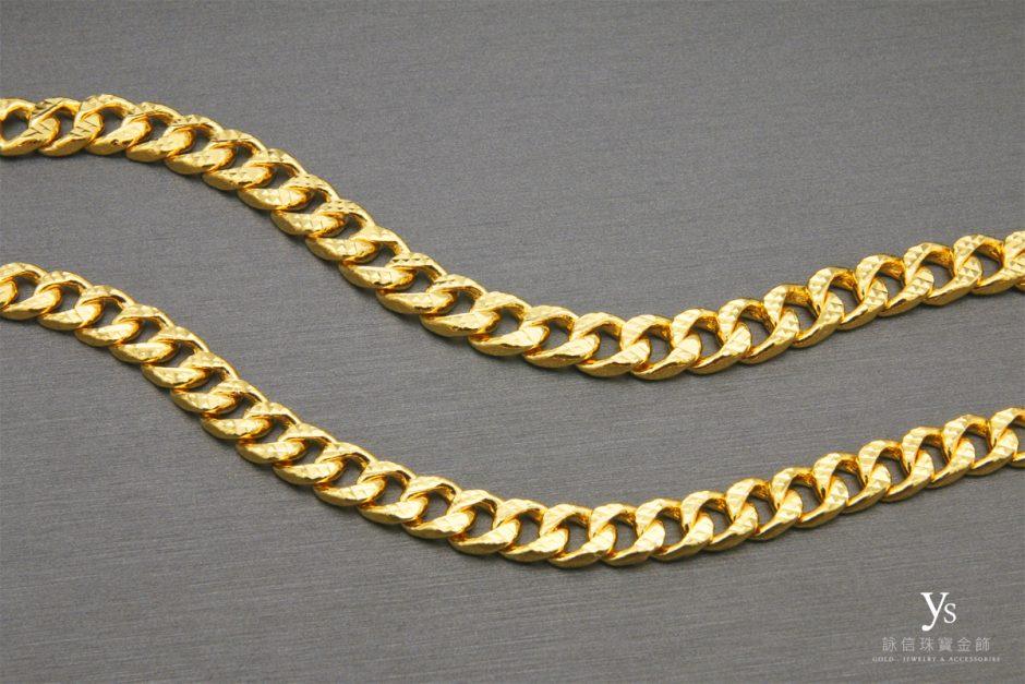 男生黃金手鍊-單鱔黃金手鏈