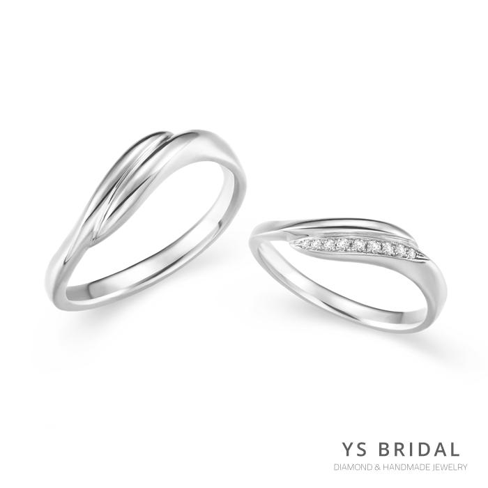 鉑金結婚對戒-日系線條結婚對戒