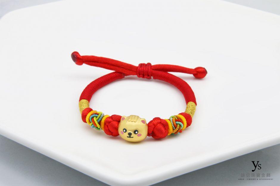 彌月金飾-黃金彌月手繩
