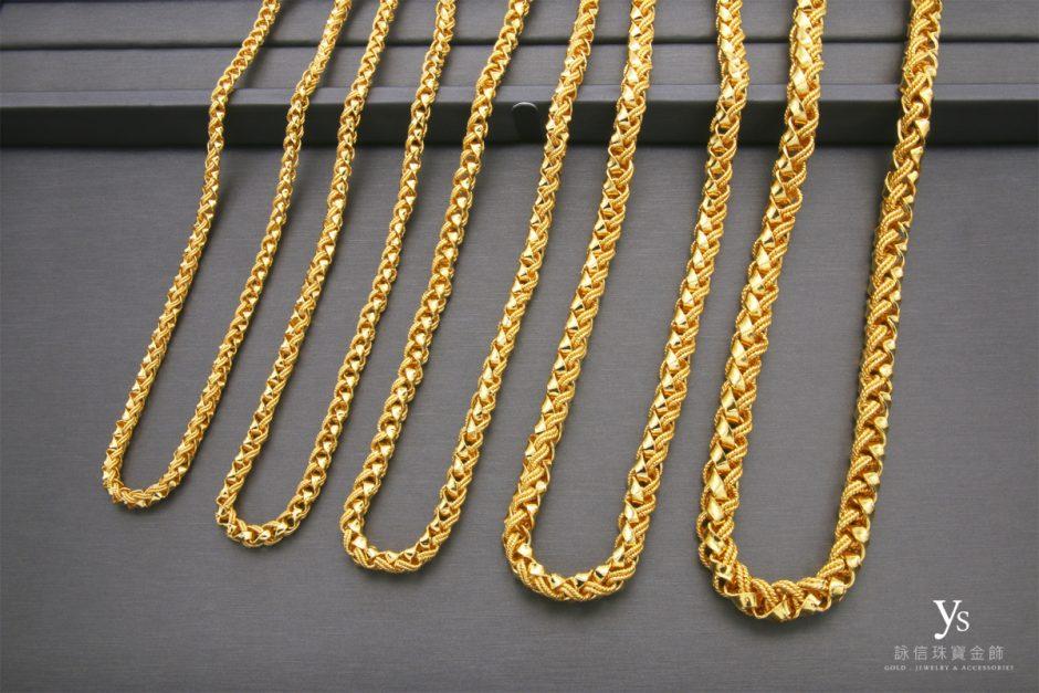 男生黃金項鍊-文武鍊