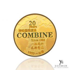 客製化金幣訂做-地圖造型黃金金幣訂做