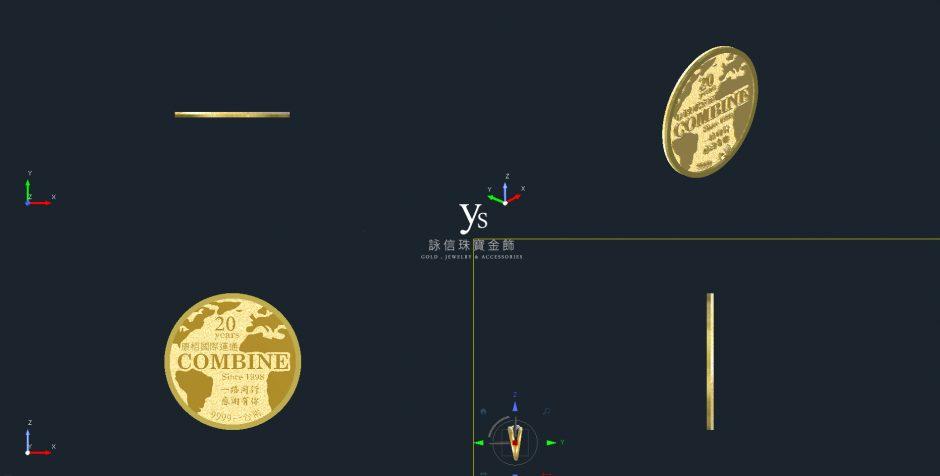 客製化金幣訂做-3D效果圖