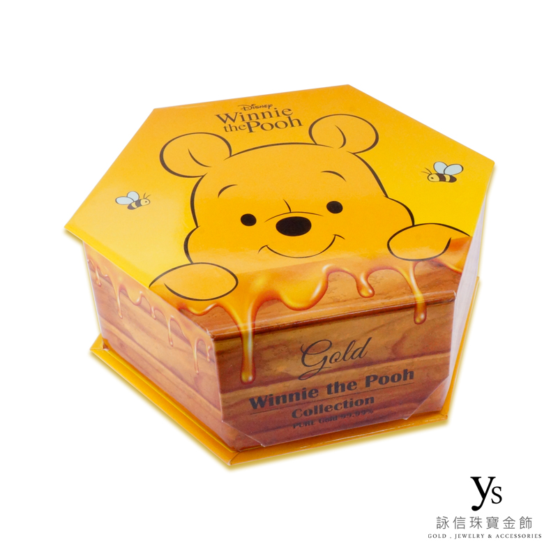 彌月金飾-小熊維尼黃金套組禮盒外盒