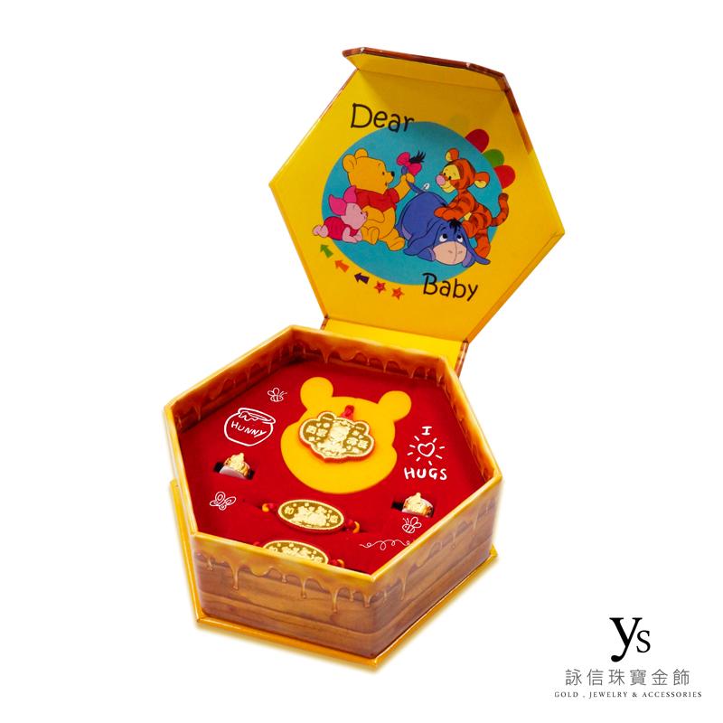 彌月金飾-小熊維尼黃金彌月禮盒