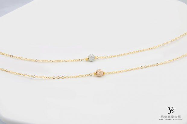 女生黃金手鍊-金珠黃金手鏈