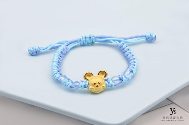 彌月金飾-迪士尼米奇手繩