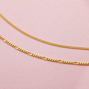 女生黃金項鍊-古巴鍊(單鱔)黃金項鍊