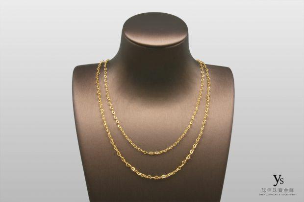 女生黃金項鍊-愛心造型黃金項鏈