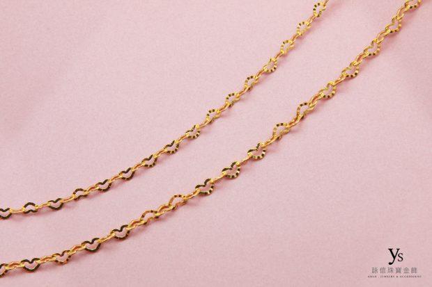 女生黃金項鍊-愛心黃金項鏈