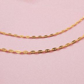 女生黃金項鍊-日字黃金項鍊(黃金豬鼻項鏈)