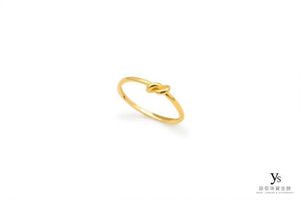 女生黃金尾戒-素面黃金尾戒