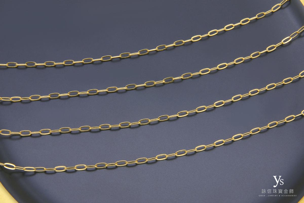 女生黃金項鍊推薦-女生黃金素鏈