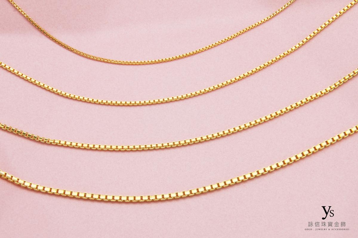 女生黃金項鍊推薦-威尼斯鍊