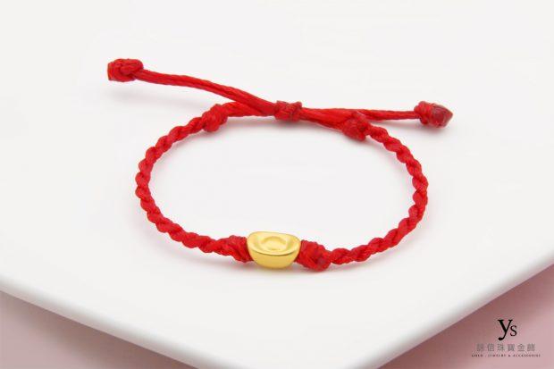 黃金手鍊-素面金元寶黃金手繩