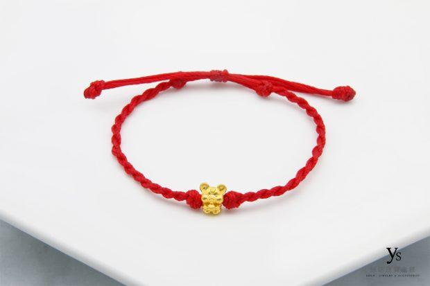 黃金手鍊-鼠年黃金手繩