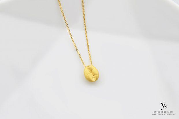黃金項鏈-咖啡豆黃金項鍊