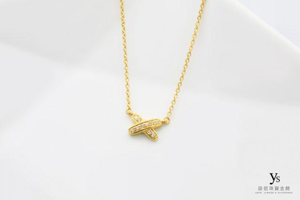 黃金項鏈-X造型黃金項鍊