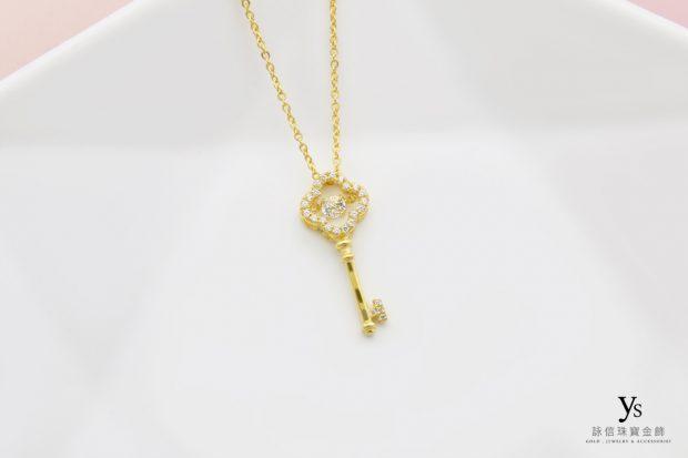 女生黃金項鏈-鑰匙造型黃金項鍊