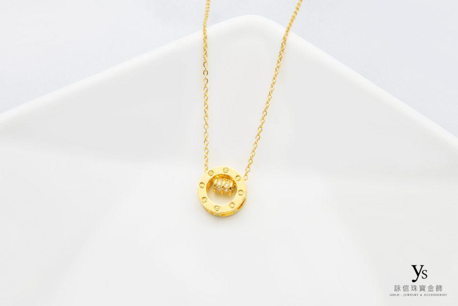 女生黃金項鍊-黃金項鏈