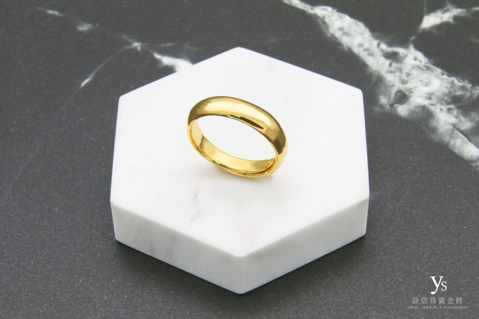 男生黃金戒指-素面黃金戒指