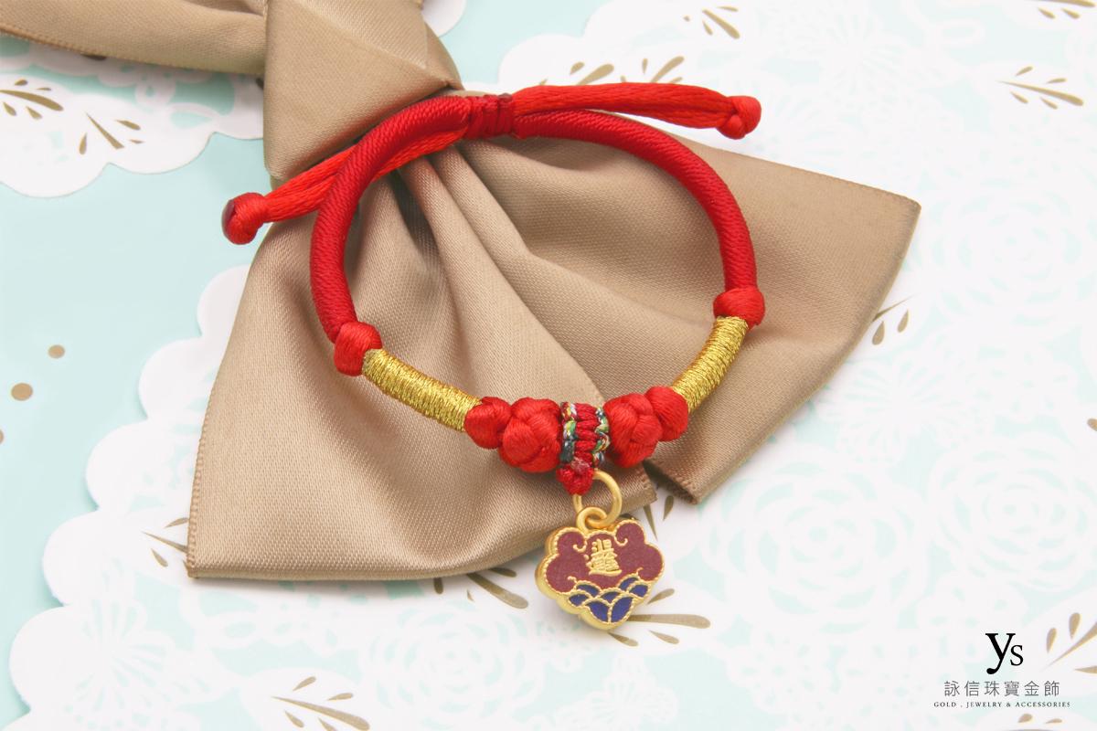 彌月金飾-彌月黃金手繩