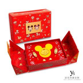 迪士尼系列彌月金飾-米奇米妮黃金彌月禮盒