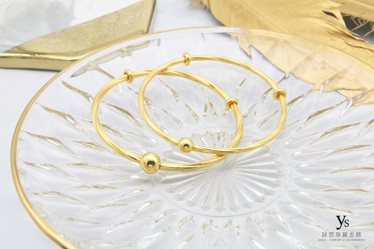 女生黃金手環-極簡麻花手環