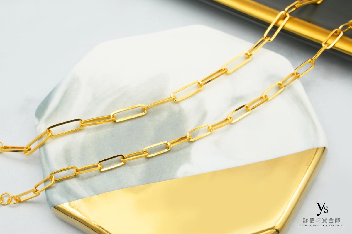 女生黃金手鍊-極簡風黃金手鏈