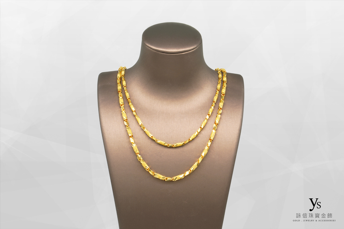 男生黃金項鍊-管狀黃金項鏈
