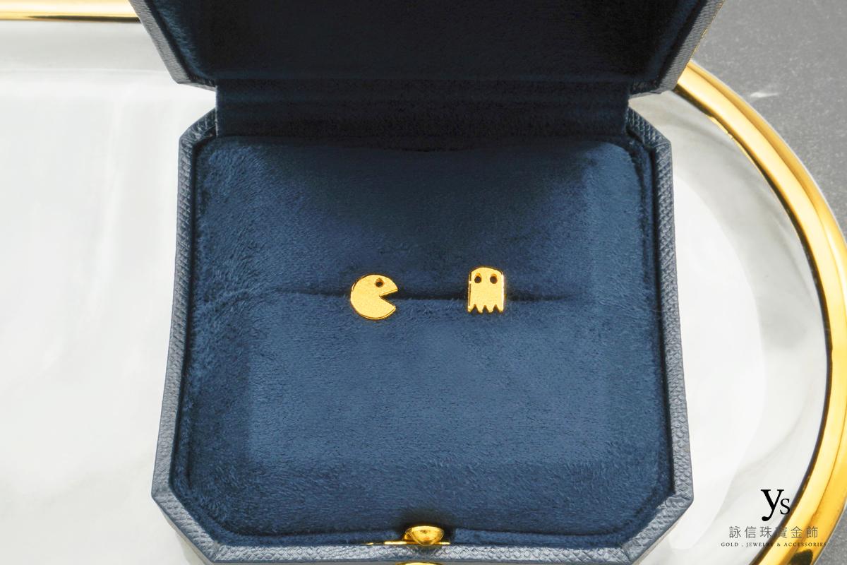 小精靈黃金耳環-女生純金耳環
