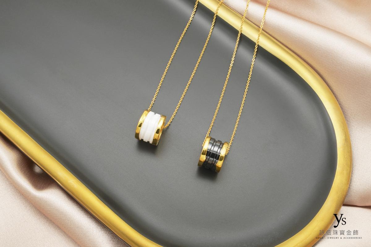 女生黃金項鍊-陶瓷黃金項鏈