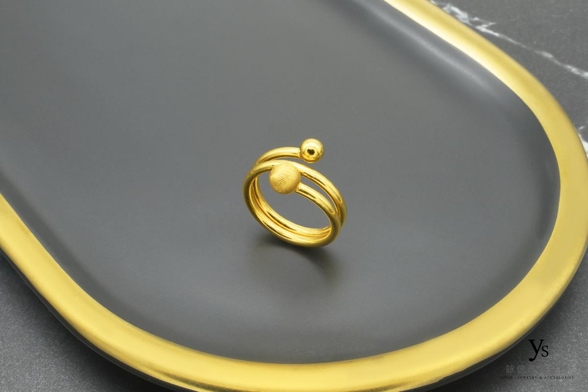 女生黃金戒-極簡風黃金戒