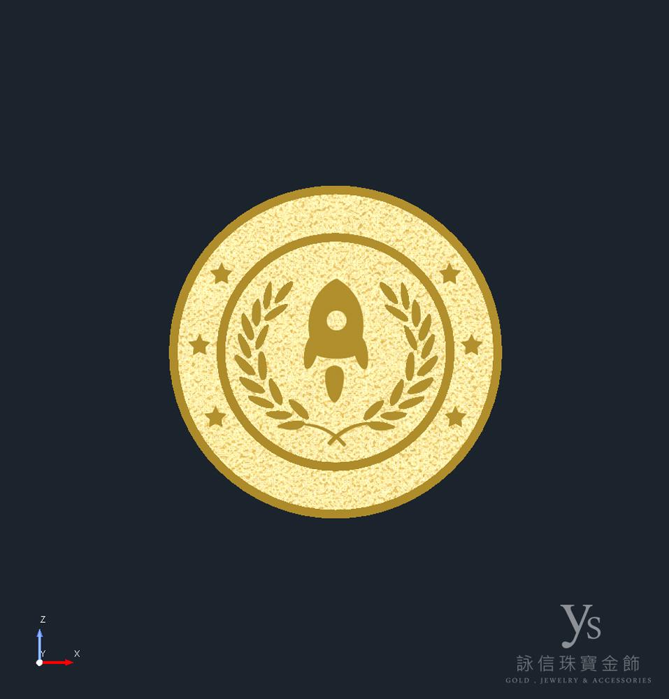金幣訂做3D擬真圖