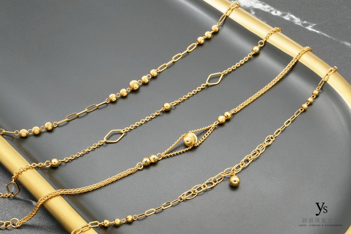 黃金手鏈-金球黃金手鍊
