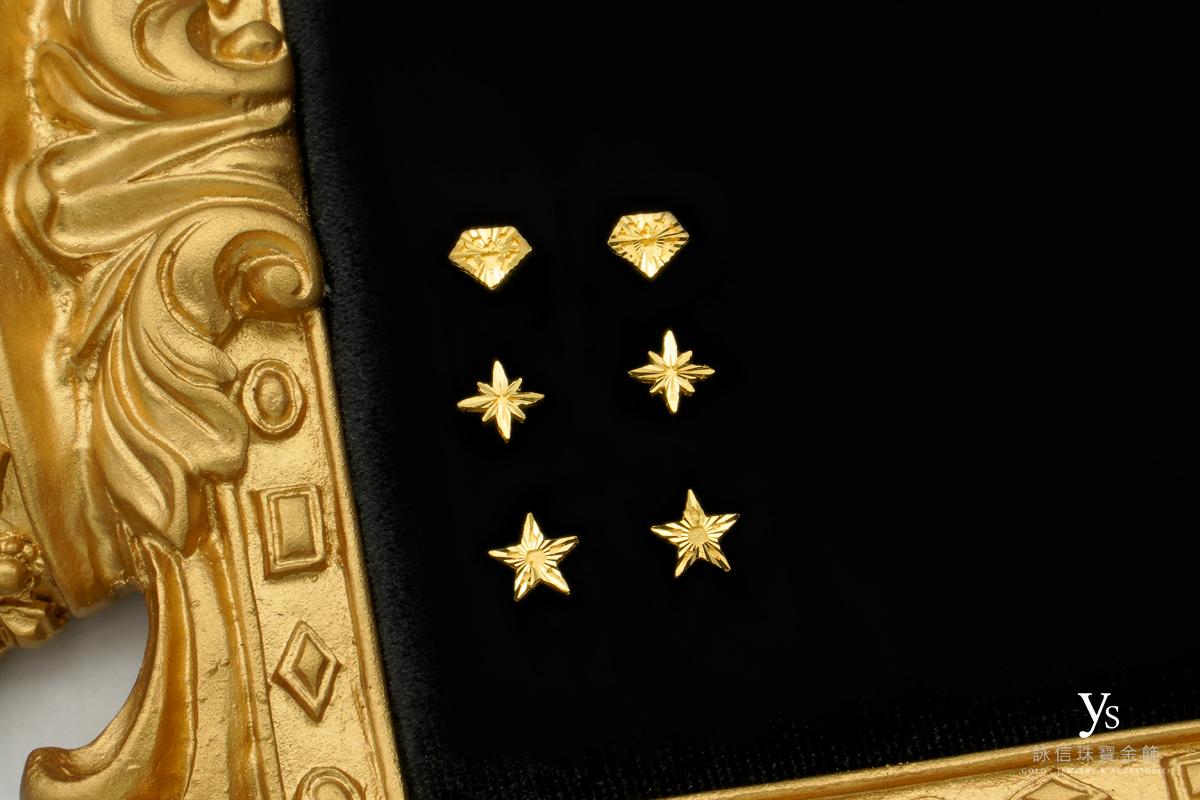 黃金耳環-女生純金耳環