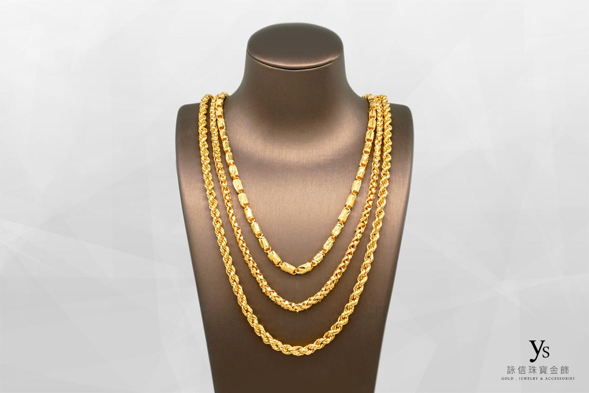 男生黃金項鍊-一兩五黃金項鍊
