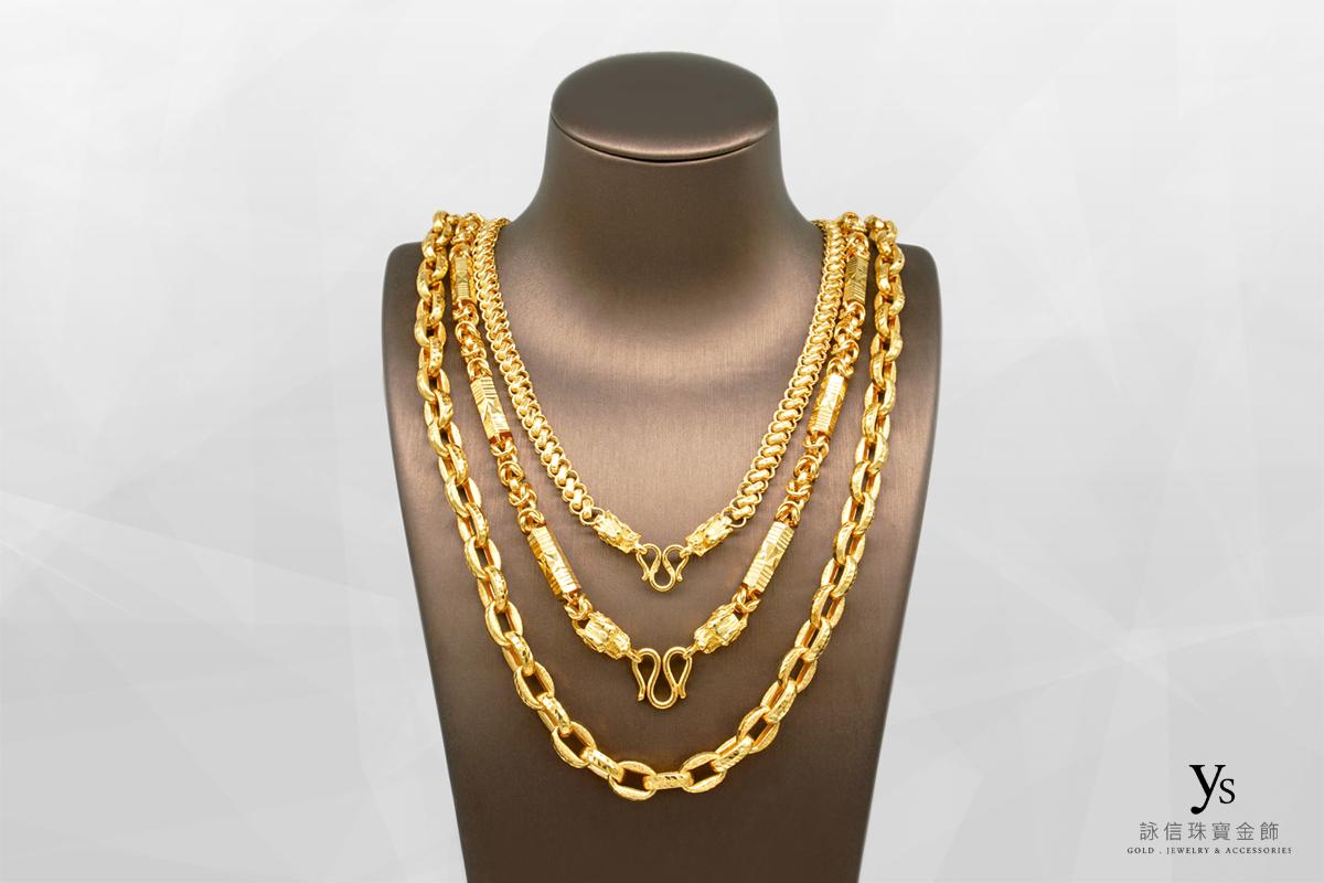 男生黃金項鍊-一兩五黃金項鏈