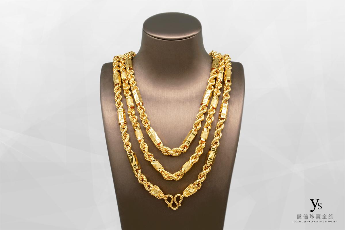 男生黃金項鍊-三兩黃金項鍊