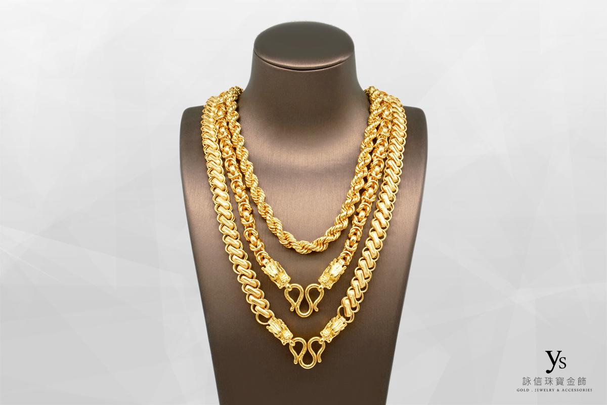 男生黃金項鍊-三兩黃金項鏈