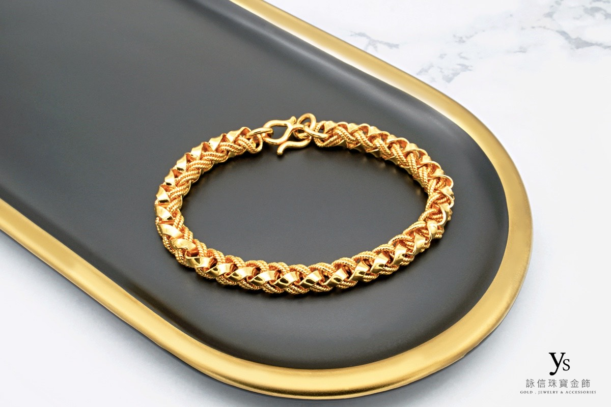 男生黃金手鍊-文武鍊黃金手鏈、文武黃金手鍊