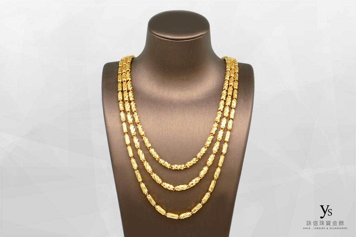 男生黃金項鏈-七錢香港進口黃金項鍊