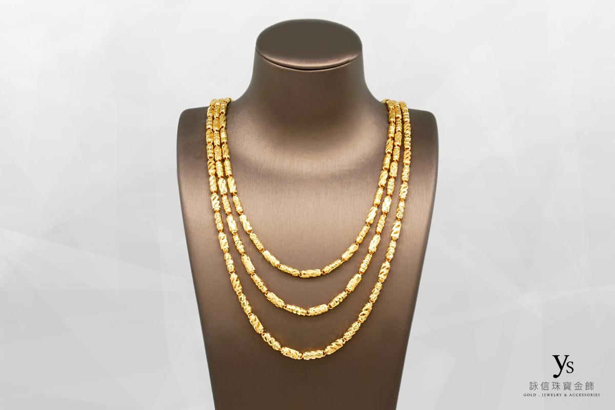 男生黃金項鏈-六錢香港進口項鍊