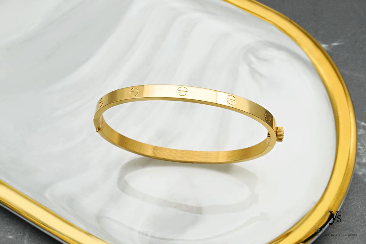 黃金手環-極簡CNC黃金手環