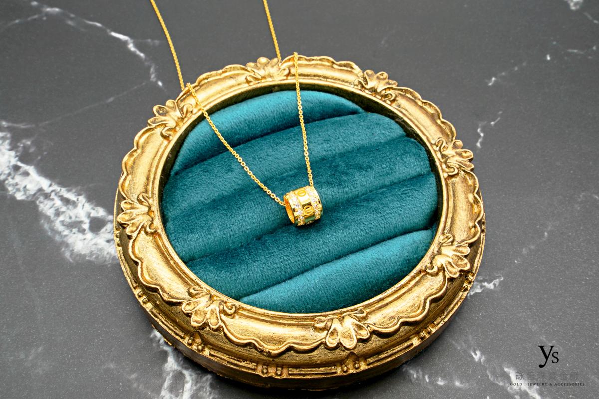 女生黃金項鍊-小鑽黃金項鏈