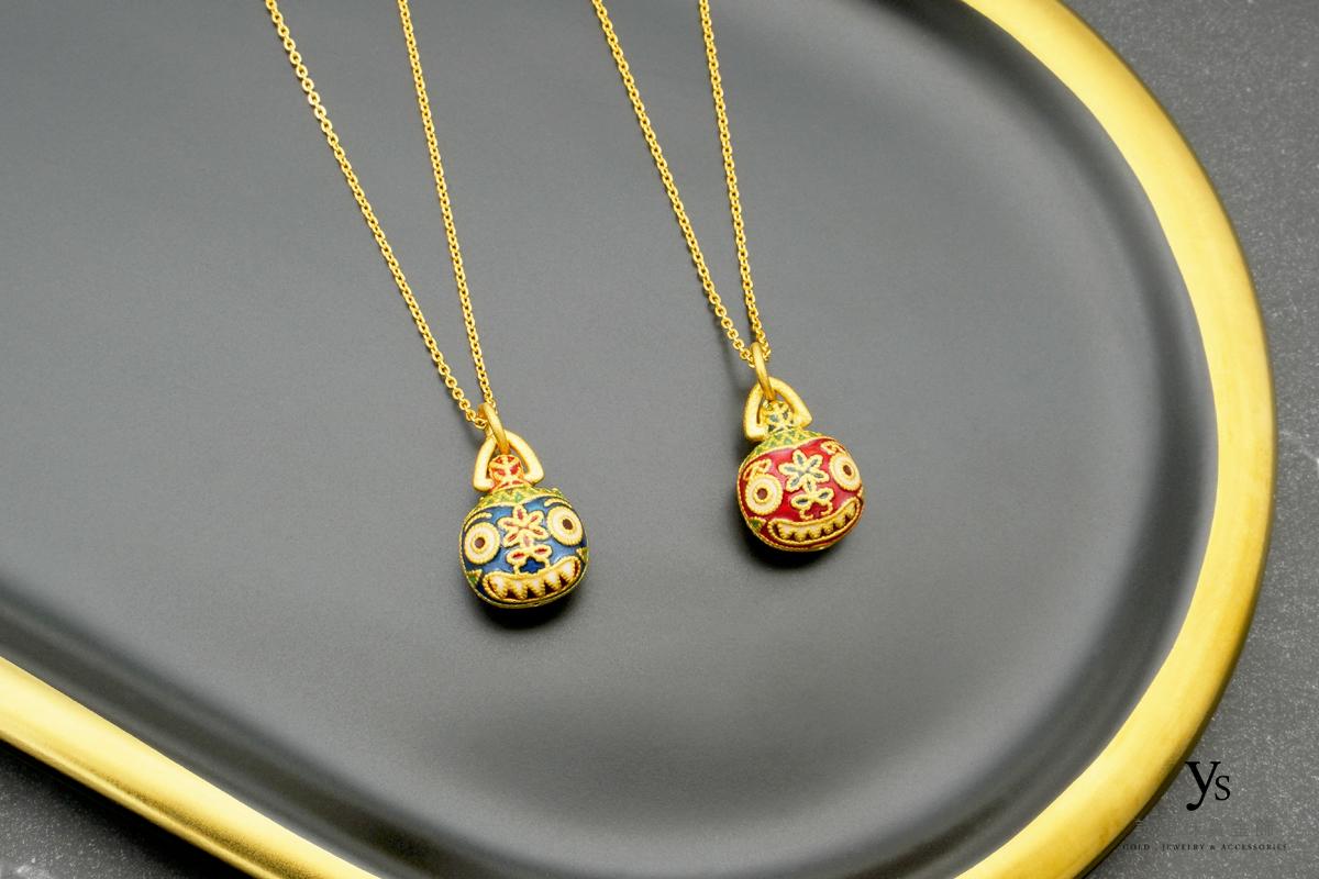 女生黃金項鍊-吞金獸黃金項鏈