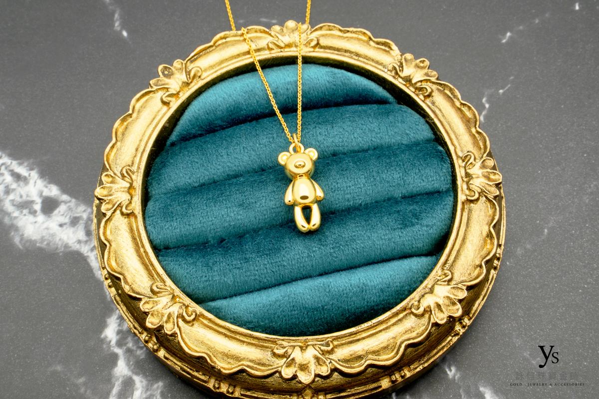 女生黃金項鍊-熊黃金項鏈