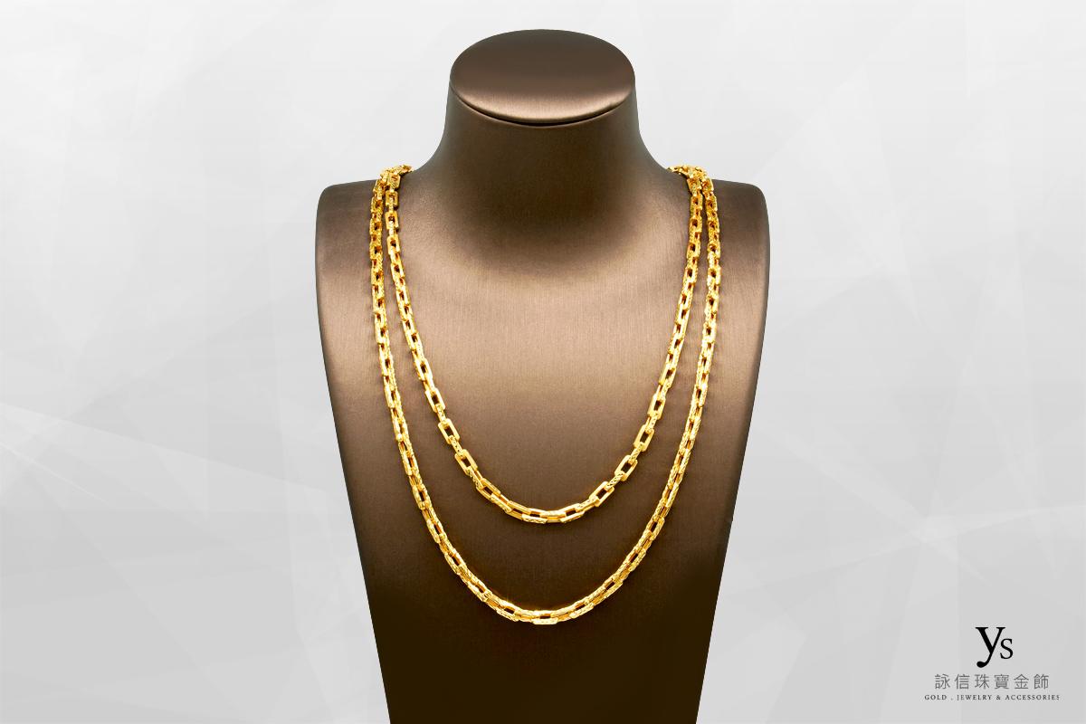 男生黃金項鍊-香港進口黃金項鍊
