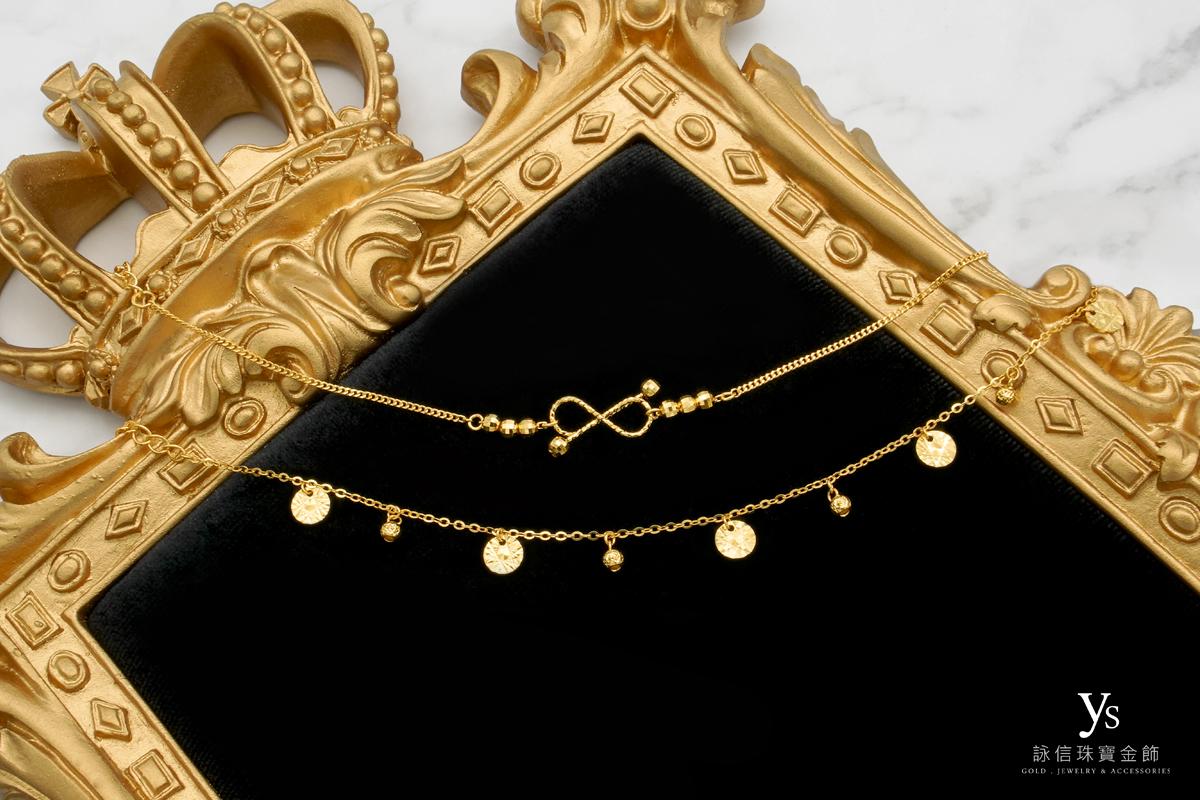 黃金手鏈-香港蝴蝶結黃金手鍊