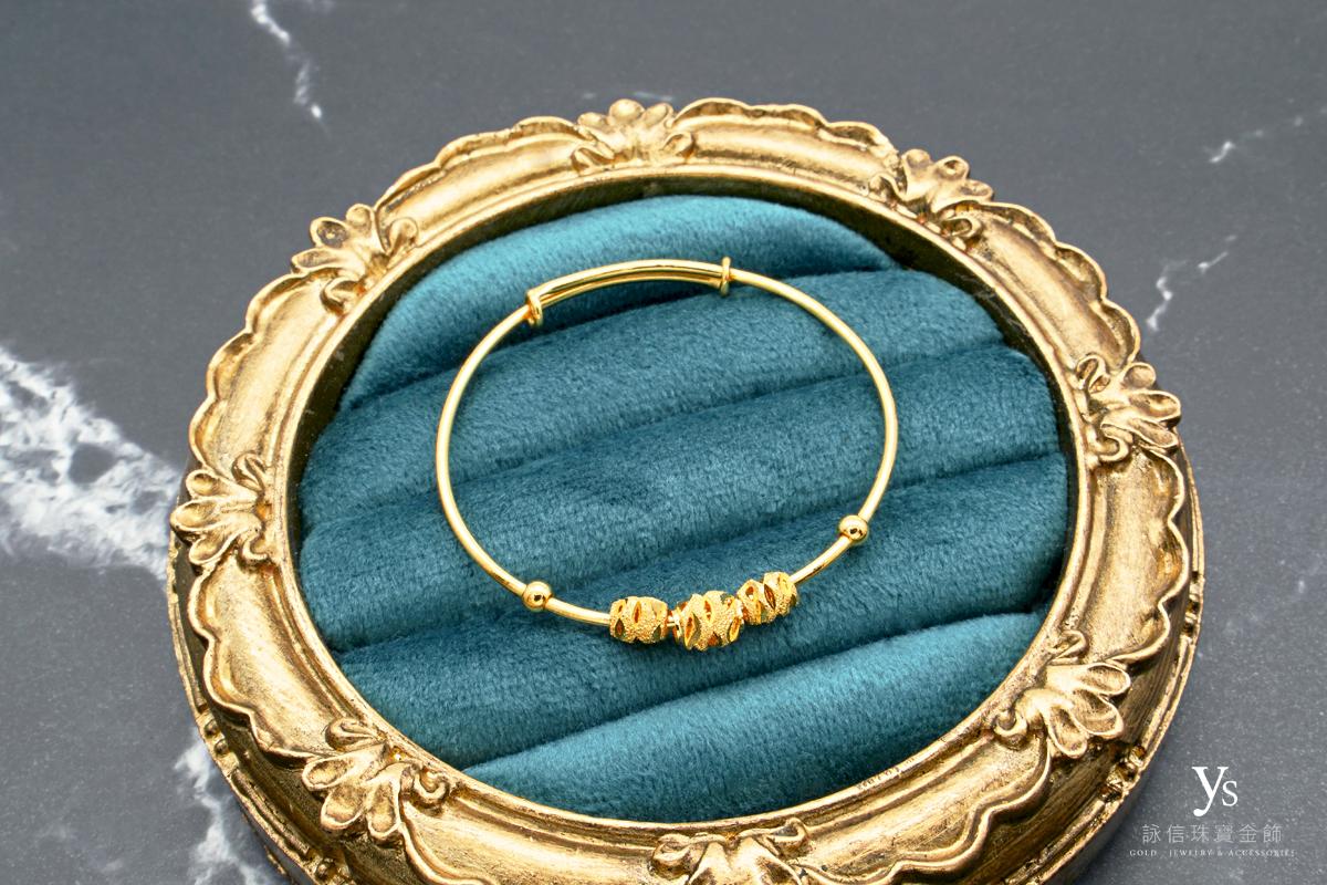 彌月金飾-寶寶黃金手環